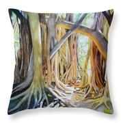 Banyan Shadow And Light Throw Pillow