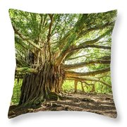 Banyan Star Throw Pillow