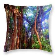 Banyan Tree Throw Pillow
