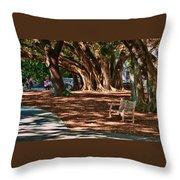 Banyans - Marie Selby Botanical Gardens Throw Pillow