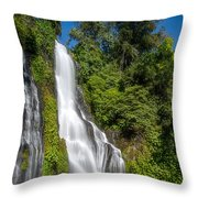 Banyumala Waterfall Throw Pillow