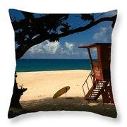 Banzai Beach Throw Pillow