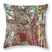 Baoba In Foliage Throw Pillow