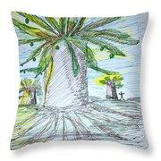 Baobab Grove Throw Pillow