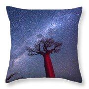 Baobab Milky Way Throw Pillow