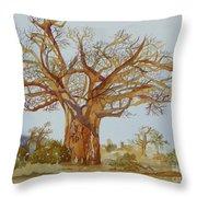 Baobab Tree Of Africa Throw Pillow