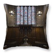 Baptismal Font - Church Of Heavenly Rest Throw Pillow