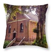Baptist Church In Giethoorn. Netherlands Throw Pillow