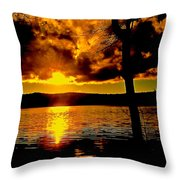 Baptized By Fire Throw Pillow