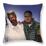 Baptized In His Glory Throw Pillow