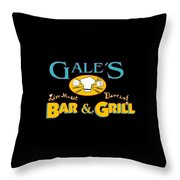 Bar And Grill Sign Throw Pillow
