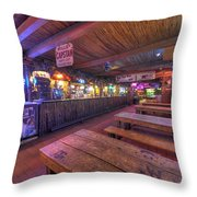 Bar At The Dixie Chicken Throw Pillow