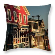 Bar Harbor At Dawn Throw Pillow