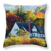 Bar Harbor Autumn House Throw Pillow