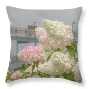 Bar Harbor Flowers In The Fog Throw Pillow
