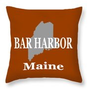Bar Harbor Maine City And Town Pride  Throw Pillow
