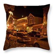 Bar Harbor Nights Throw Pillow