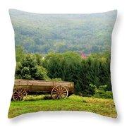 Baraboo Hillside Throw Pillow