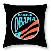 Barack Obama Design Throw Pillow
