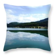 Barajul Bolboci Throw Pillow