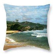 Barbados Beach Throw Pillow