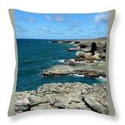 Barbados Coast Throw Pillow
