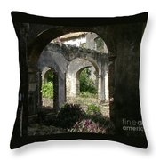 Barbados Ruins Throw Pillow