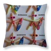 Barbados Starfish  Surfers Throw Pillow