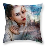 Barbara Future Portrait Throw Pillow
