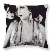 Barbara La Marr Throw Pillow