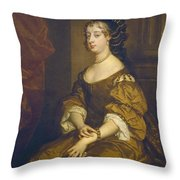 Barbara Villiers, Duchess Of Cleveland Throw Pillow