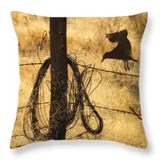 Barbed Landing Throw Pillow