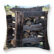 Barbed Wire Anchor Throw Pillow