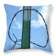 Barbed Wire Sky Throw Pillow