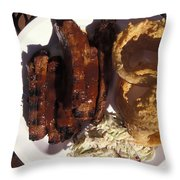 Barbeque Ribs Dinner At Sonny Bryans Throw Pillow