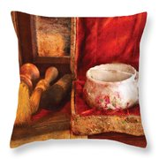 Barber - Care For A Shave  Throw Pillow