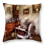 Barber - In The Barber Shop  Throw Pillow