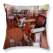 Barber - Please Have A Seat Throw Pillow