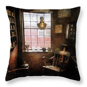 Barber - Remembering The Old Days Throw Pillow