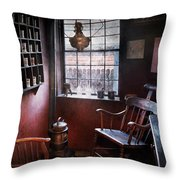 Barber - The Country Barber  Throw Pillow