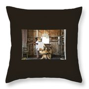 Barber Of The Century Throw Pillow