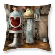 Barber - Our Family Barber 1935 Throw Pillow