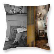 Barber - Our Family Barber 1935 - Side By Side Throw Pillow
