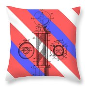 Barber Pole Patent Throw Pillow