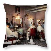 Barber - Senators-only Barbershop 1937 Throw Pillow