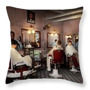 Barber - Senators-only Barbershop 1937 Throw Pillow