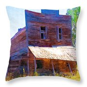 Barber Store Throw Pillow