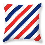 Barber Stripes Throw Pillow