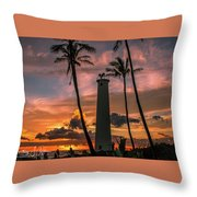 Barber's Point Lighthouse Throw Pillow