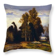 Barbizon Landscape Throw Pillow